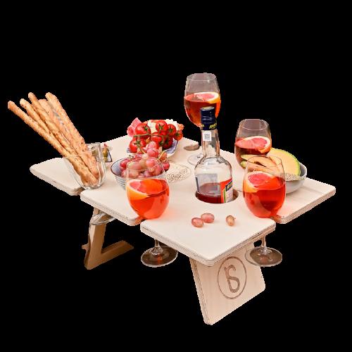 Винный столик для пикника