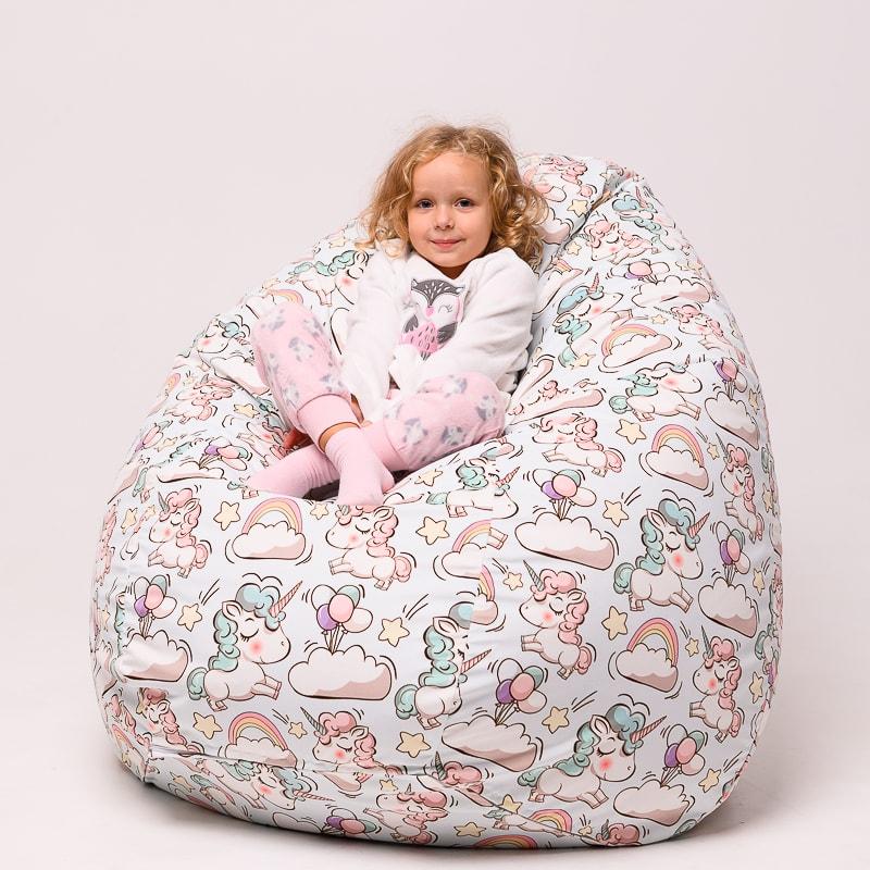 Кресло груша детский принт
