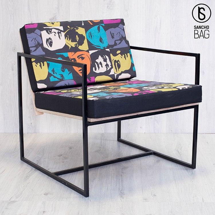 Кресло Металл/Дерево