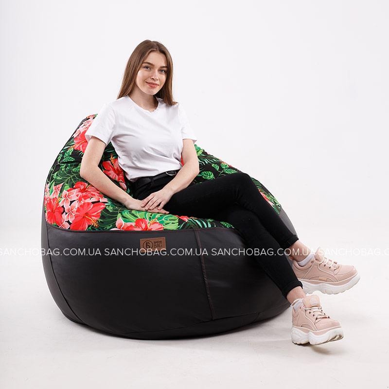 Кресло комфорт Black/Print