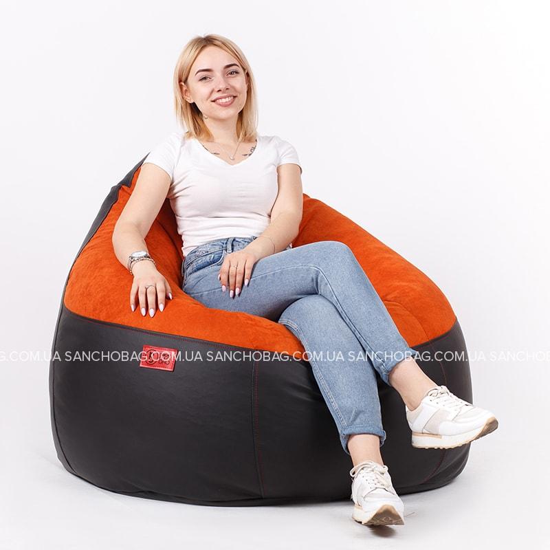 Кресло комфорт Black/Orange