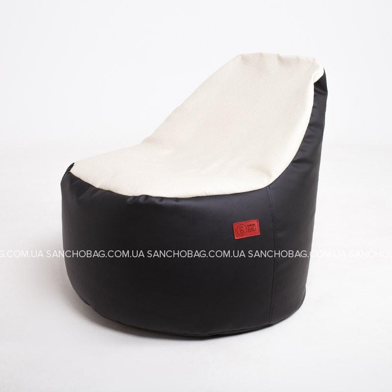 Кресло-мешок Пенек Black-White