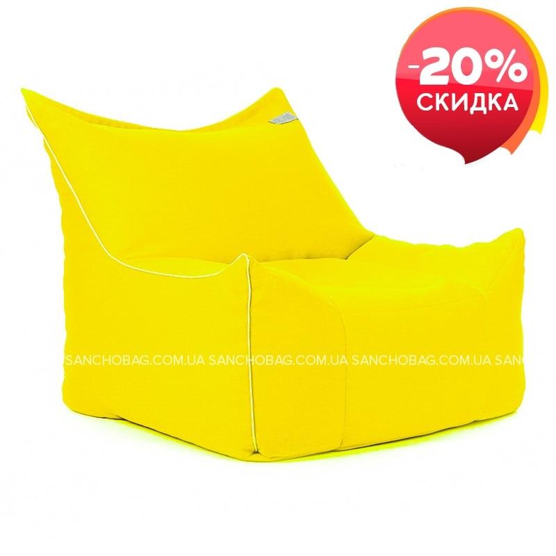 Кресло Трон Желтый 1 шт