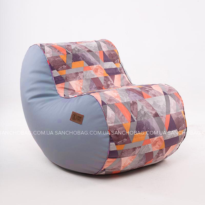 Кресло Sancho BOB Blue + принт