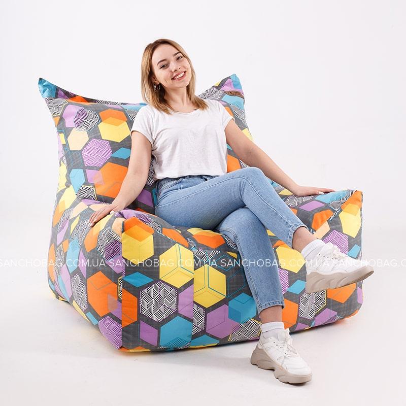Кресло Трон Велюр/Принт